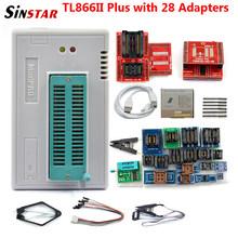 Sinstar mais novo v10.41 minipro tl866ii plus suporte programador usb 16000 + ic spi flash nand eeprom mcu pic avr alta qualidade