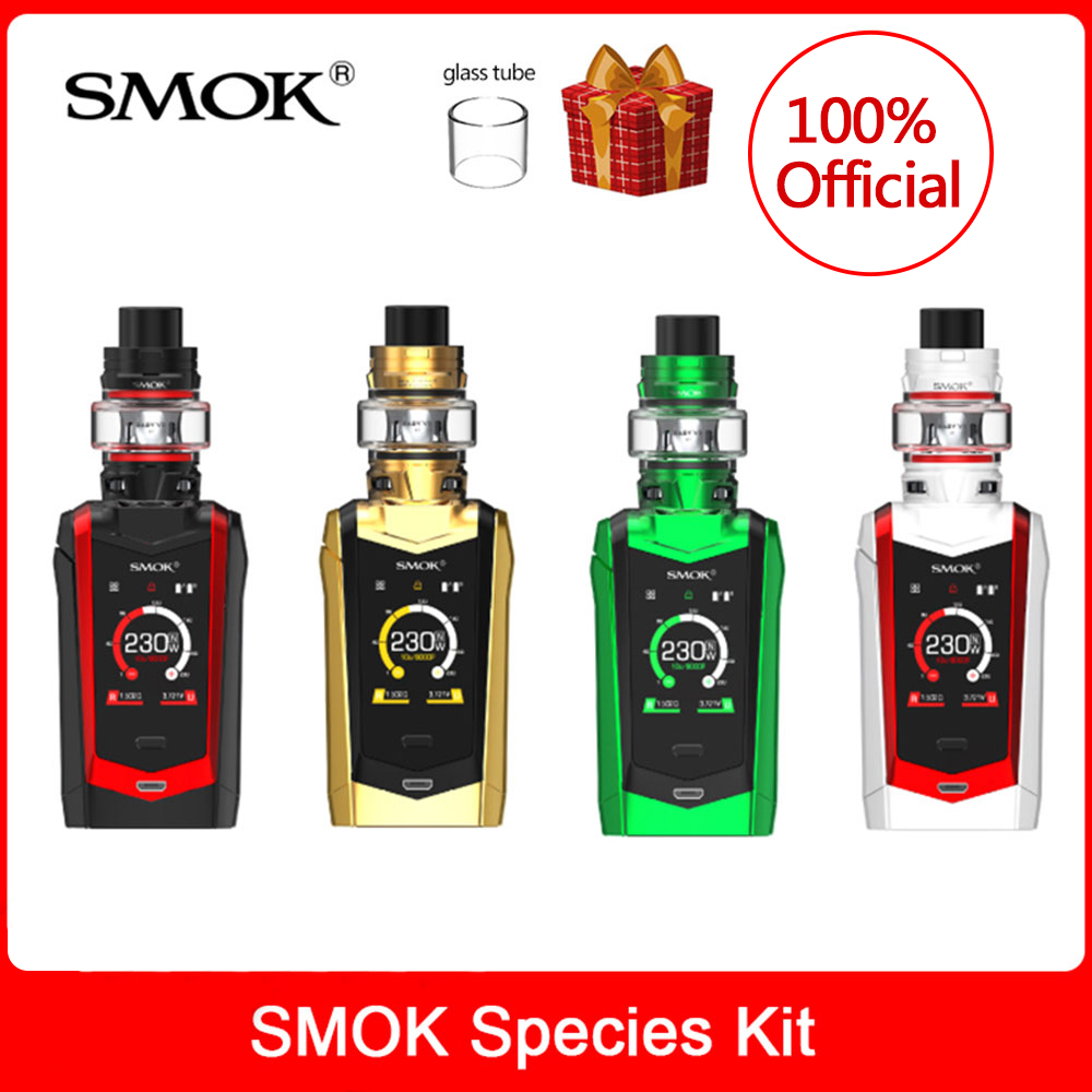 Original SMOK Species Kit 230W TFV8 Baby V2 Tank 5ml With Baby V2 A1/V2 A2 Electronic Cigarette Vaporizer Vape Kit VS X Priv