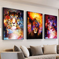 5D DIY Lion Wolf Tiger Diamond Painting Wall Art Canvas PaintingEmbroidery Mosaic Colorful Animal Room Decor Gift