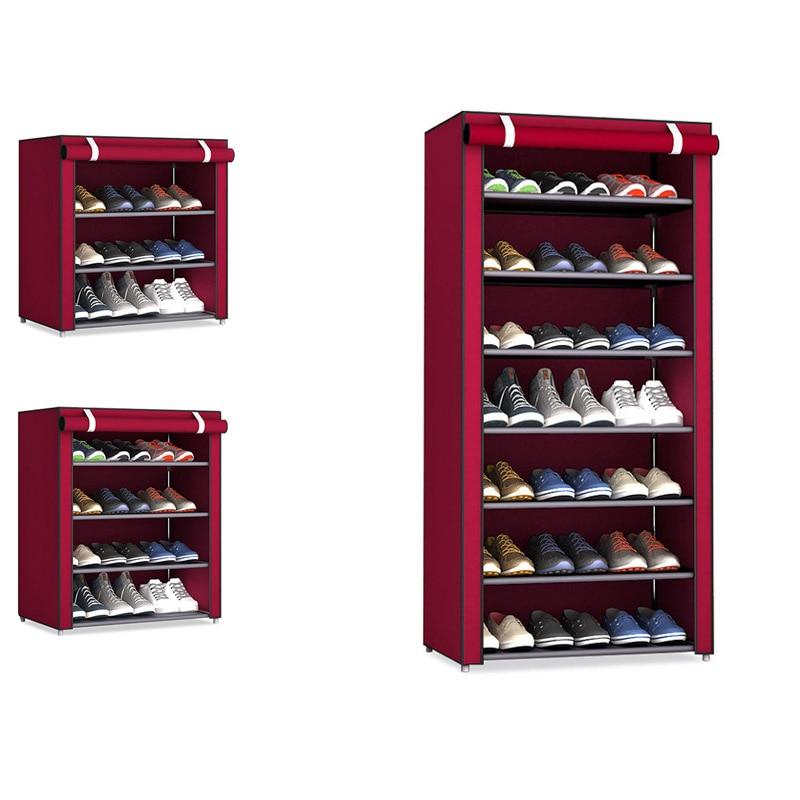 Non-woven Fabric Shoe Rack Hallway Storage Cabinet Organizer Holder Assemble Shoes Shelf DIY Home Furniture