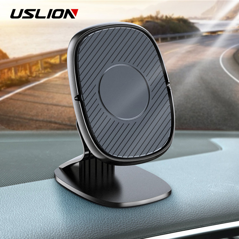 USLION Universal Magnetic Car Phone Holder Stand In Car For IPhone 11 Samsung GPS Magnet Air Vent Mount Cell Mobile Phone Holder