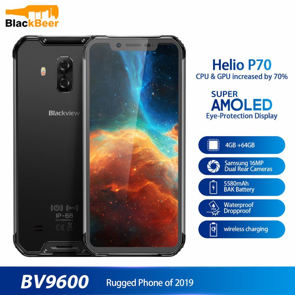 Купить Blackview BV9600 водонепроницаемый мобильный телефон Helio P70 Android 9,0 4 Гб + 64 Гб мобильный телефон 6,21