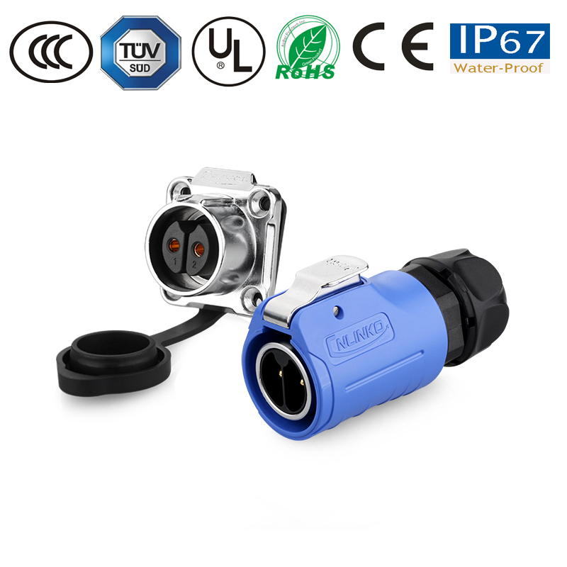 Waterproof connector new upgrade M20 type increased inner core separation design 2pin 20A waterproof power connector