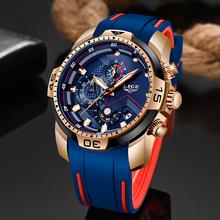 2020 LIGE Watches Mens Business Watches Orologio Uomo Silicagel Band Wristwatch
