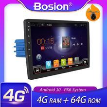 Autoradio stéréo DSP, android 10, 4 go RAM, 64 go ROM, lecteur à cassette, enregistreur, navigation GPS, commande au volant, 1 Din/2 Din