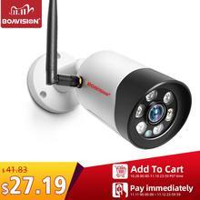 HD 1080P 5MP Wifi IP kamera açık kablosuz Onvif tam renkli gece görüş CCTV mermi güvenlik kamera TF kart yuvası APP CamHi