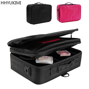 Image 4 - HHYUKIMI Double Layer Makeup Organizer Bag Professional Beautician Cosmetic Case Largest Travel Portable Waterproof Handbag