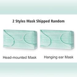 50 sztuk jednorazowe Maska przeciwpyłowa zielona 3 warstwy koreański Non Face dobra oddychalność Maska codzienne maski ochronne 5