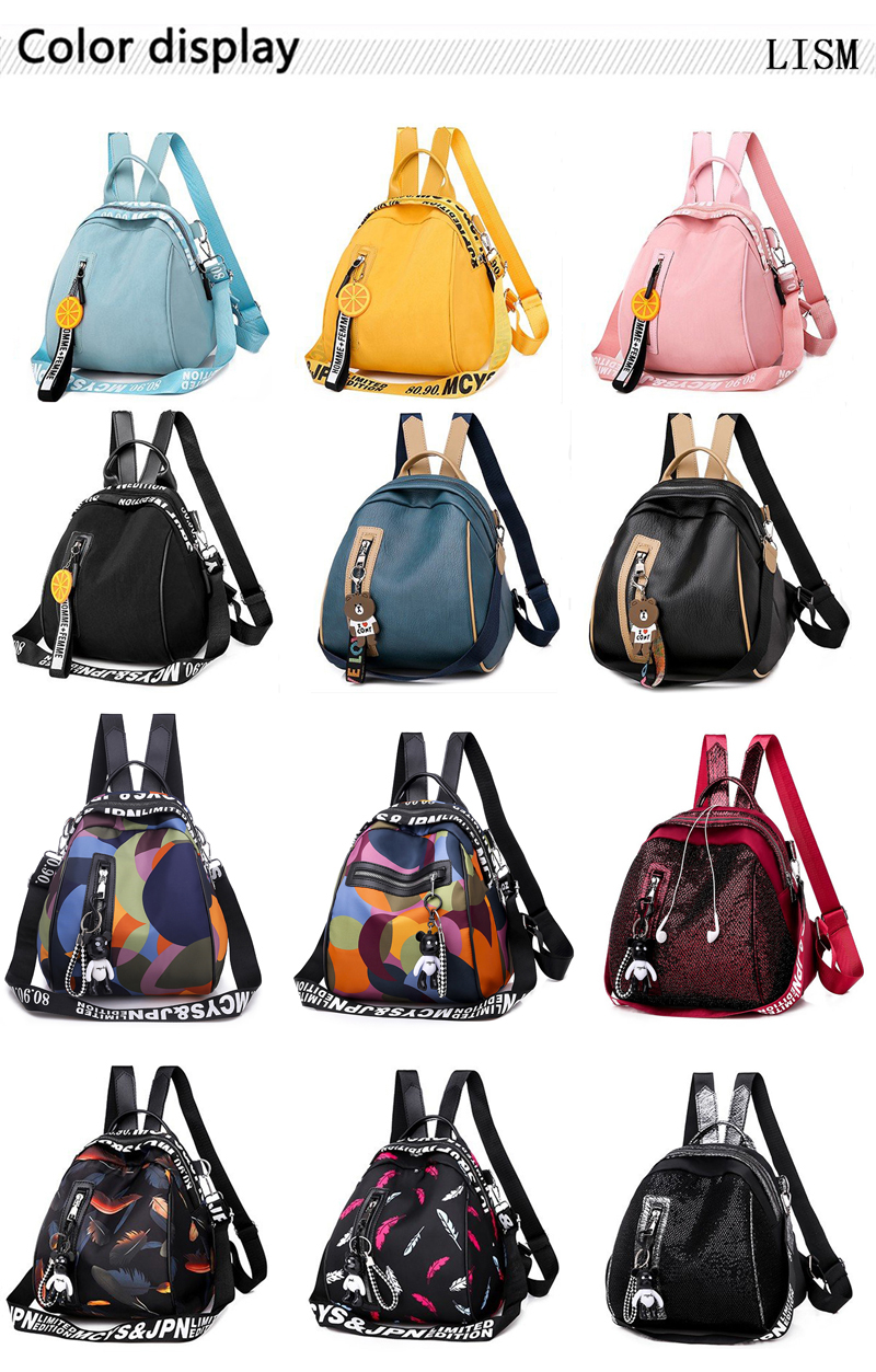 H9c2c8fa42a9b482b8292b4719aafffe07 - New Multifunction Backpack Women Waterproof Oxford Bagpack Female Anti Theft Backpack Schoolbag for Girls  Sac A Dos mochila
