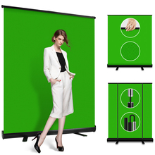 Green Screen Background with stand Extra large 150x200 cm Photo Chroma Key Panel Backdrops Pull Style for Virtual Studio YouTube
