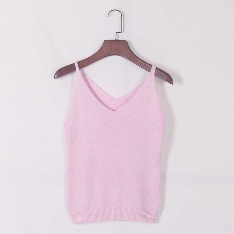 Est Mode Tiefe V-ausschnitt Sexy Strappy Sleeveless Weste Frauen Tank Casual Tops T Shirt