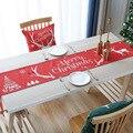 Новогодняя Рождественская настольная дорожка Рождественская скатерть красная настольная дорожка обеденный стол журнальный столик рождес...