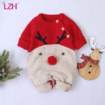 2020 jesienno-zimowa noworodek ubrania świąteczny sweter pajacyki dziewczynek chłopców kombinezony kostium dla niemowląt dzieci kombinezon dla malucha tanie i dobre opinie COTTON Poliester Włókno bambusowe Cartoon Dla dzieci O-neck Pojedyncze piersi Unisex Pełna baby rompers Pasuje prawda na wymiar weź swój normalny rozmiar