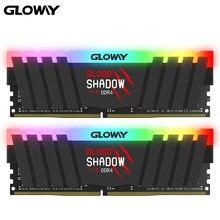 Gloway ddr4 8gb ram rgb nova chegada série da sombra de sangue ddr4 8gb * 2 16gb 3000 3200mhz 3600rgb ram para a memória do desktop do jogo ram