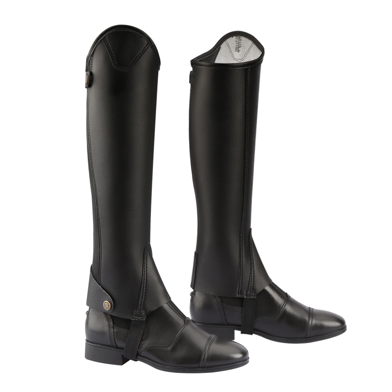 microfiber bionic leather half-chaps for adult and child horse riding half-chaps women and man