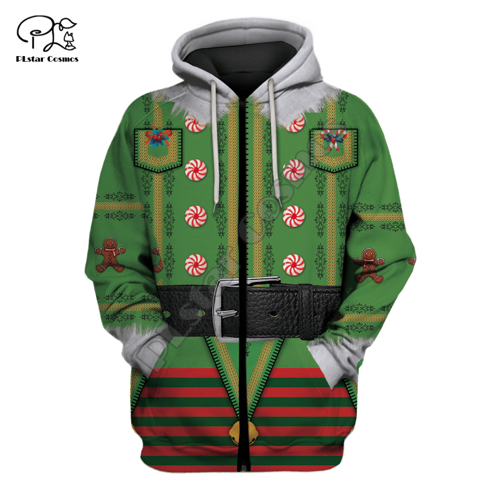 Men Women Christmas Costumes Print 3D Hoodies cosplay Gift red green Sweatshirt t shirt zipper jacket pullover Funny Santa Claus in Hoodies amp Sweatshirts from Men 39 s Clothing
