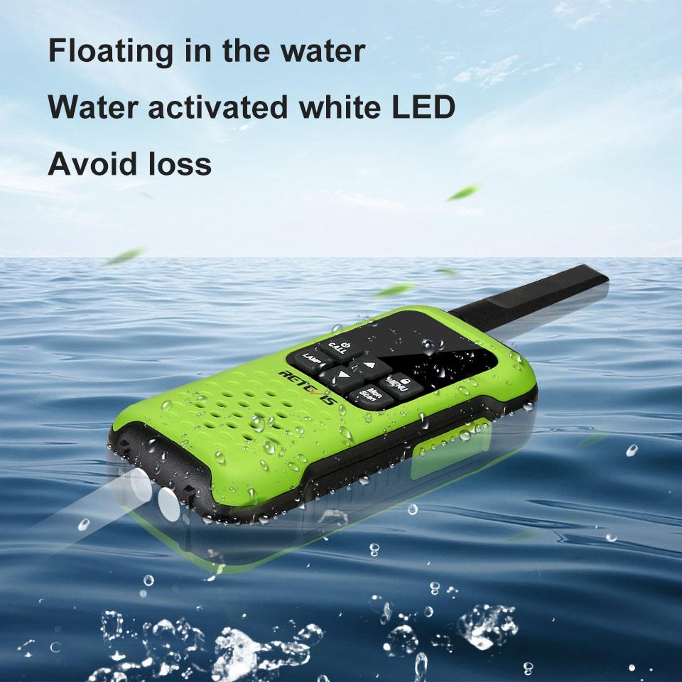 Retevis RT649P Floating Walkie Talkie Waterproof IP67 Walkie-talkies 2 pcs PMR Portable Two-way Radio For Hunting Fishing Skiing