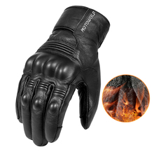 الجلد الحقيقي الشتاء الحراري الدافئة دراجة هوائية تزلج في الهواء الطلق التخييم التنزه قفازات للدراجات النارية الرياضة إصبع كامل