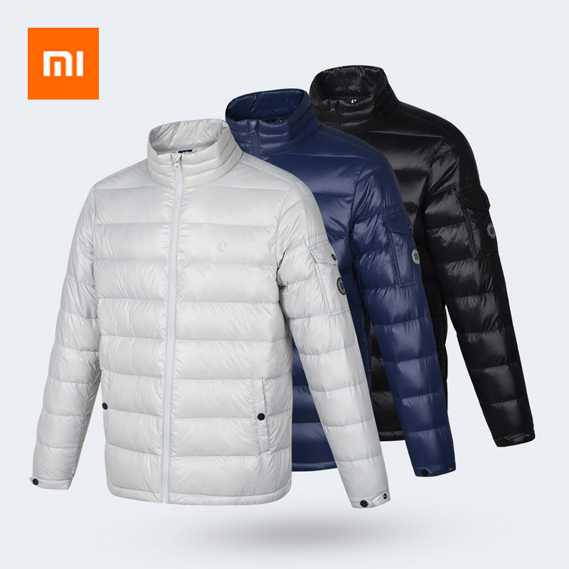 Newest Xiaomi Uleemark Glossy Surface Integrated Woven Goose Down Men Jacket Continuous Warmth Waterproof Ultra Light Portable|  - title=