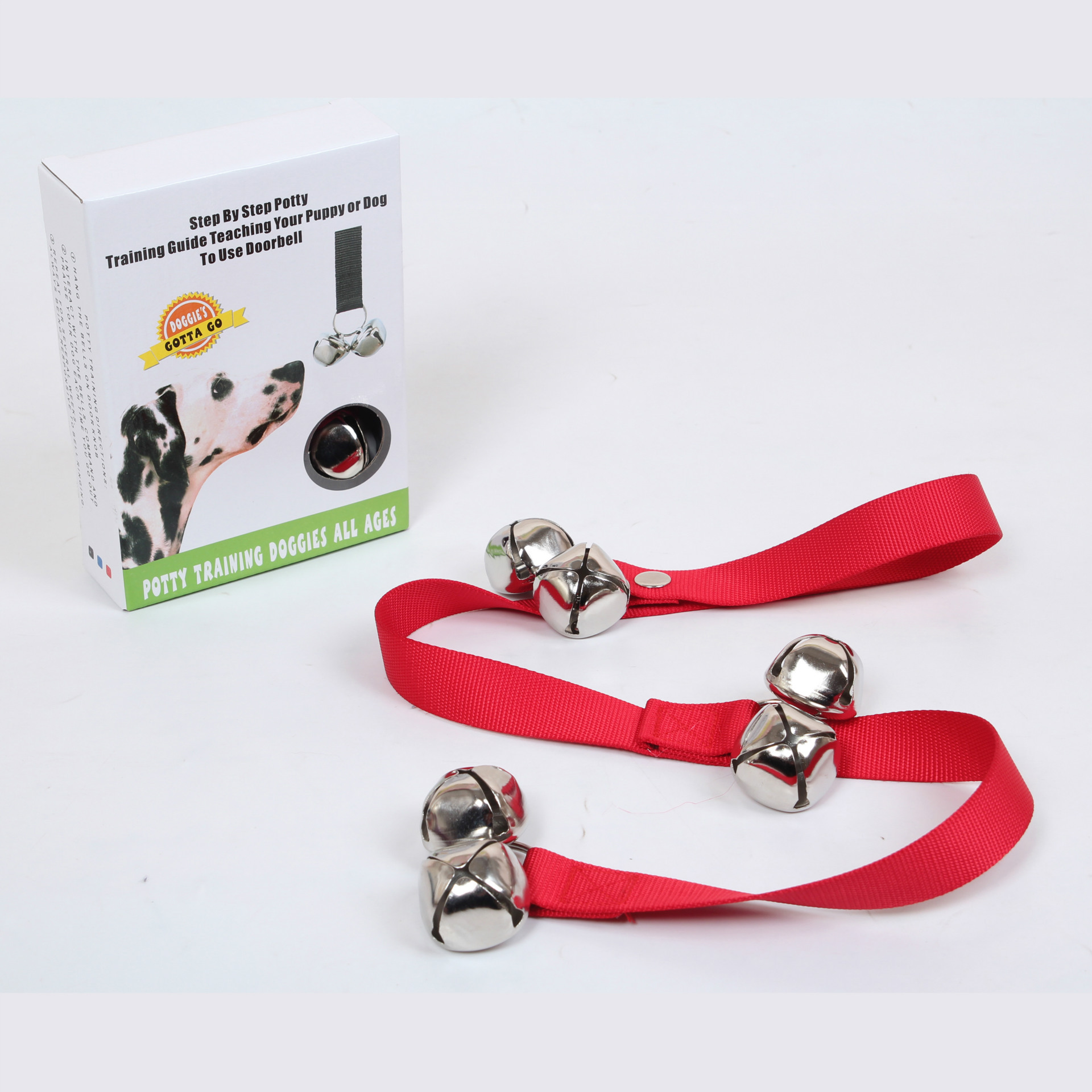 Pet Supplies Dog Doorbell Nylon Sling Training Bell Pendant Hand Holding Rope Dog Bell Toy