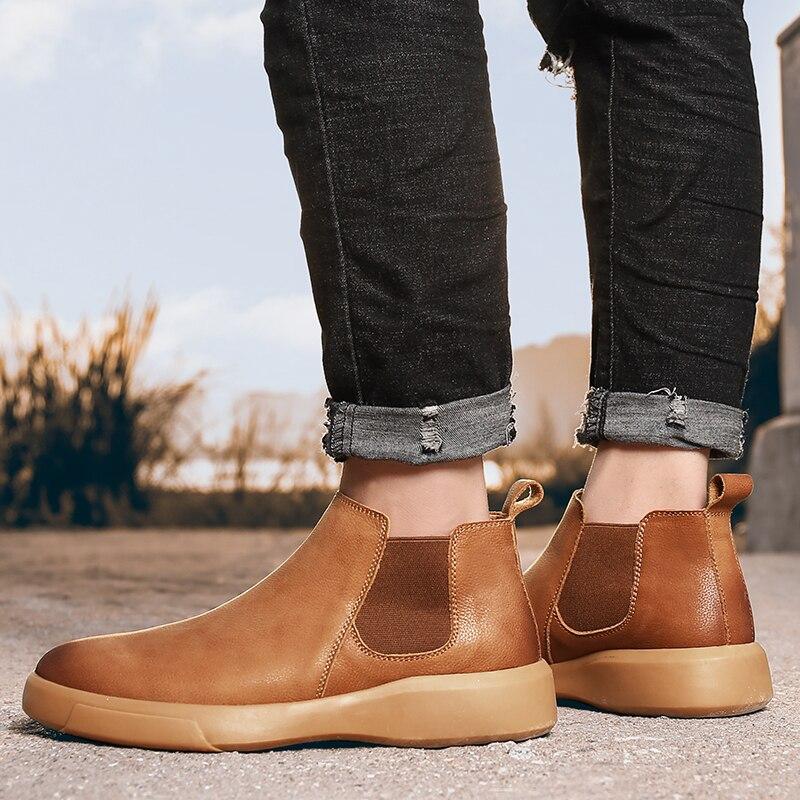 Curtas Ankle Boot Curto Confortável Slip-On de