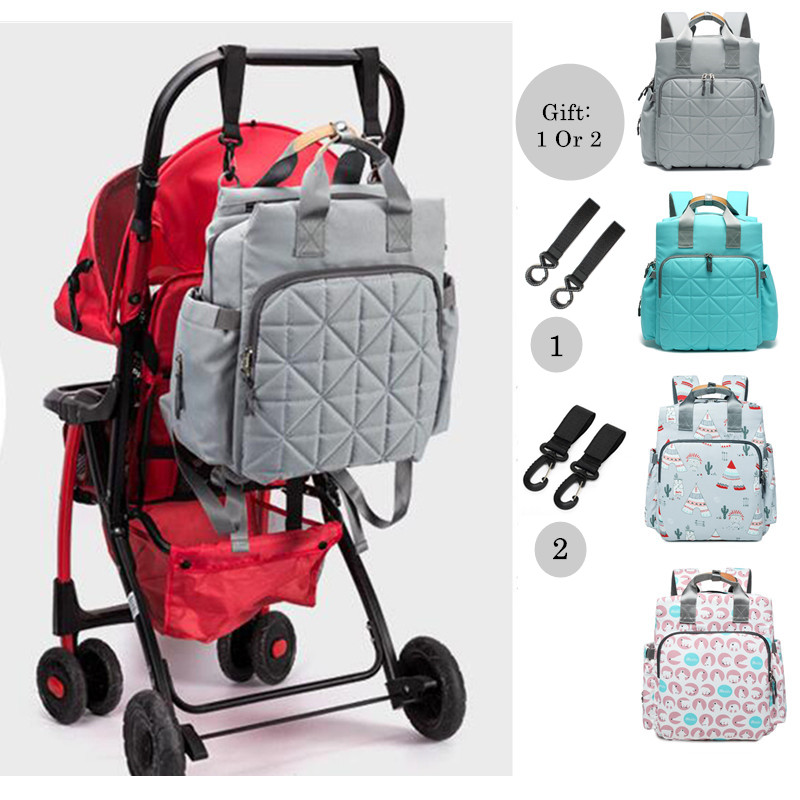 Fashion Multi-function Mummy Maternity Nappy Bag Large Capacity Waterproof Travel Diaper Stroller Backpack Designer For Moms