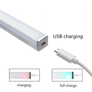 Image 4 - محس حركة ضوء الليل المحمولة 14/20 LED إضاءة الخزانات USB شحن التعريفي ليلة مصباح لغرفة النوم غرفة المعيشة الممر