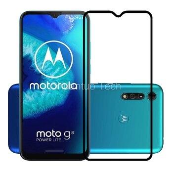 Перейти на Алиэкспресс и купить Закаленное стекло премиум класса 2.5D 9H с полным покрытием, Защитная пленка для Motorola Moto G8 Power Lite