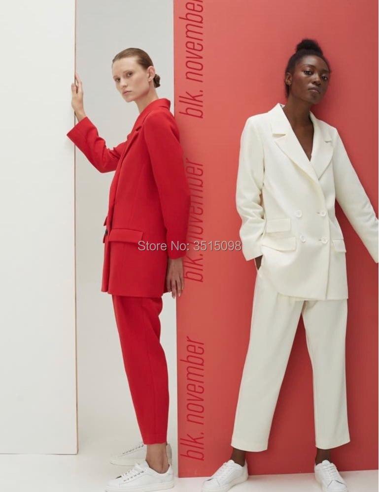Women Pant Suits Women Ladies Business Office Tuxedos Work Wear Suits Formal Suits 2pcs jacket blazer pants wedding suits