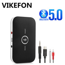 Upgrade B6 Bluetooth 5.0 Transmitter Receiver 2In1 RCA 3.5mm 3.5 Aux Jack Stereo Music Audio Wireless Adapter for Car TV PC MP3