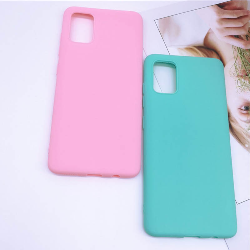 Back Soft Rubber Matte Silicone Phone Case For Samsung Galaxy A51 A71 A91 A11 A01 Cover Case On Samsung A 01 11 51 71 91 Cases