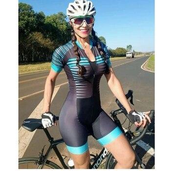 20-kafitt-19d-gel almofada ciclismo mulher triathlon ciclismo camisa de uma peça vestido pequeno macaco manga curta terno competição novo 1