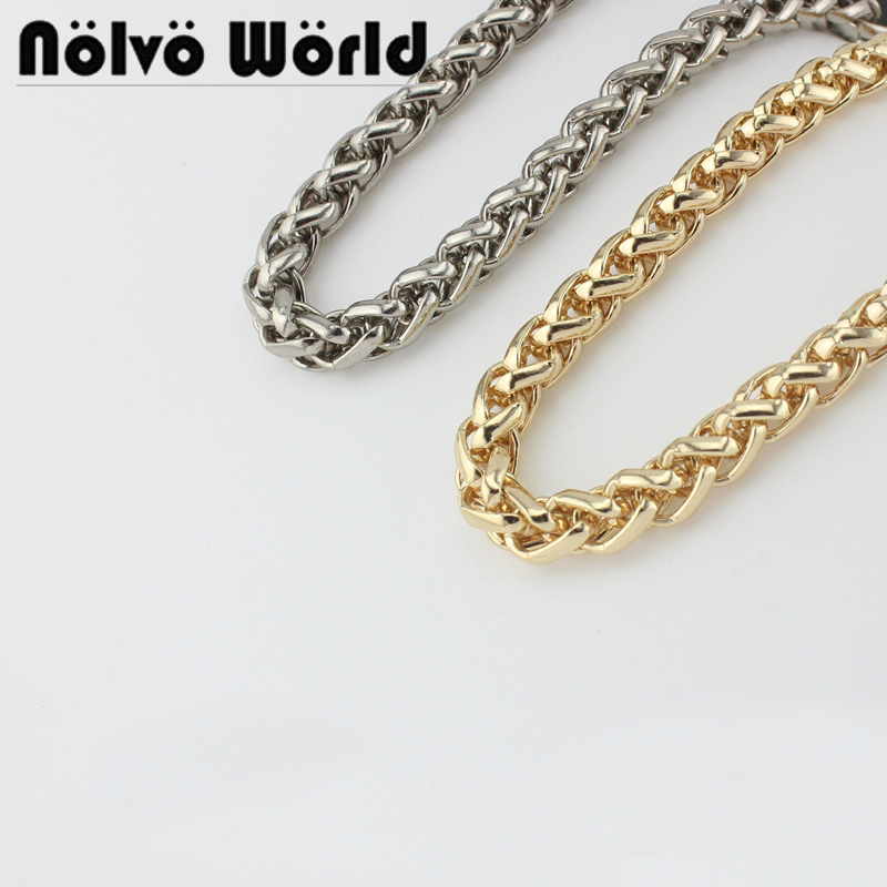 5 Meters 5 Colors 8mm Wide Wheat Roller Chain Handle,Ladies Purse Belts Wheat Repair Chain