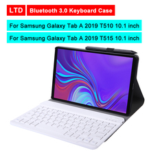 Buy Bluetooth 3.0 Tablet Keyboard Case For Samsung Galaxy Tab A 2019 T510 T515 10.1 inch Mediapad Flip Leather Protective Cover directly from merchant!