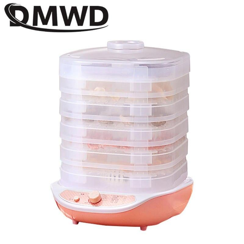 DMWD Сухофрукты овощи травы мясо машина бытовой вакуумный упаковщик мини-Дегидратор для пищевых продуктов для домашних животных мясо обезво...
