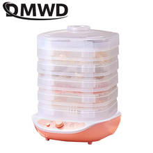 DMWD Dried Fruit Vegetables Herb Meat Machine Household MINI Food Dehydrator Pet Meat Dehydrated 5 trays Snacks Air Dryer 220V
