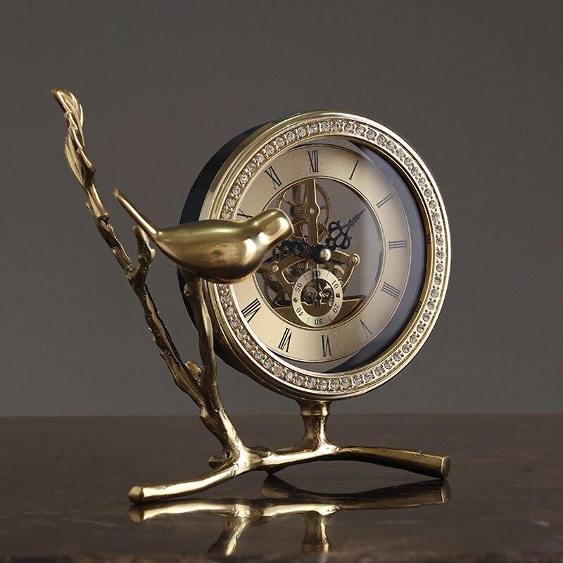 Métal numérique réveil or lit luxe grande voix réveil Design moderne Silence Relojes De Madera décor à la maison OO50AC - 3