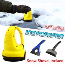 Skrobaczka do szyb elektryczna podgrzewana usuwanie śniegu przednia szyba odszranianie czyste narzędzia Auto przednia szyba samochodu skrobaczka do szyb tanie tanio CN (pochodzenie) Kieszeń Multi Tools Car Ice Scraper Snow Removal Shovel Outdoor Tools