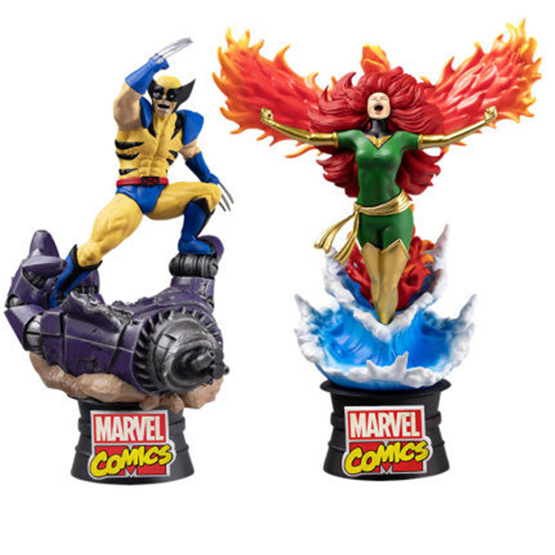 Disney Marvel Genuine X-MEN Wolverine Phoenix Comic Edition 3D Statue Action Figure Collection Model Toy X4754 image