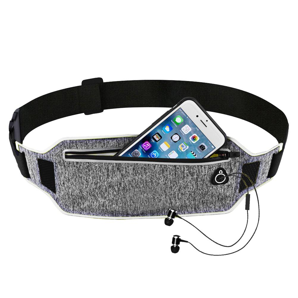 Ultra-thin Running Waist Pouch Bag Lightweight Sport Belt Waist Pack Fits For IPhone 6 6s 7 For Men Women With Hidden Pouch