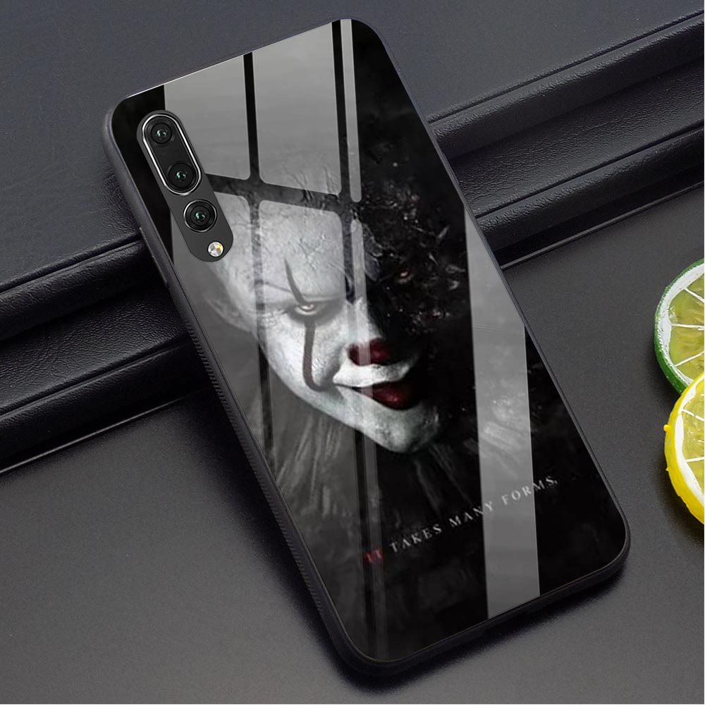 Pennywise The Clown Horror Glass Phone Cover for Huawei Y6 2018 Case Mate 20 Lite Honor 9 10 Lite 7A P10 P20 P30 PRO P Smart