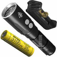 NITECORE DL20 + F1 Ladegerät + IMR18650 3 100mAh 35A Batterie 100 0Lumen LED Taschenlampe Tauchen Licht Unterwasser 100M Wasserdichte Taschenlampe