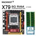 Комплект материнской платы X79 LGA 2011 для настольного компьютера с процессором Intel xeon E5 2620 и 8 Гб (2*4 Гб) DDR3 ОЗУ mini-itx материнская плата X79 V2.73