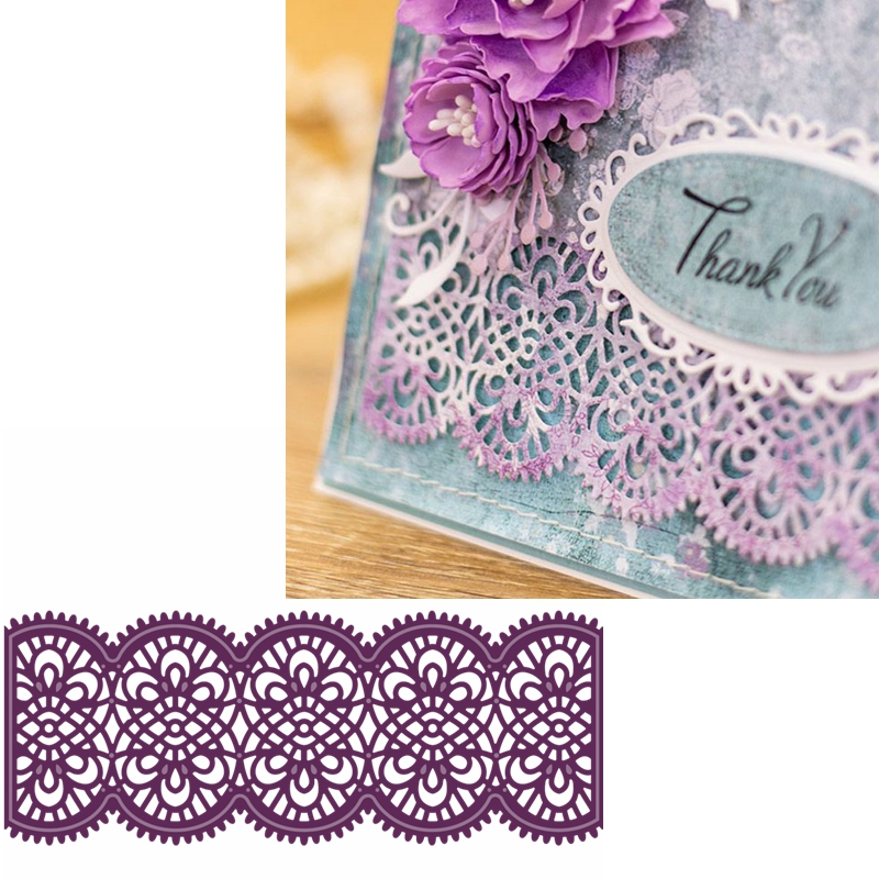 Crisscross Flowers Border Metal Cutting Dies Hollowed Decorative Border Die Cuts For DIY Card Making New 2019 Crafts Cards