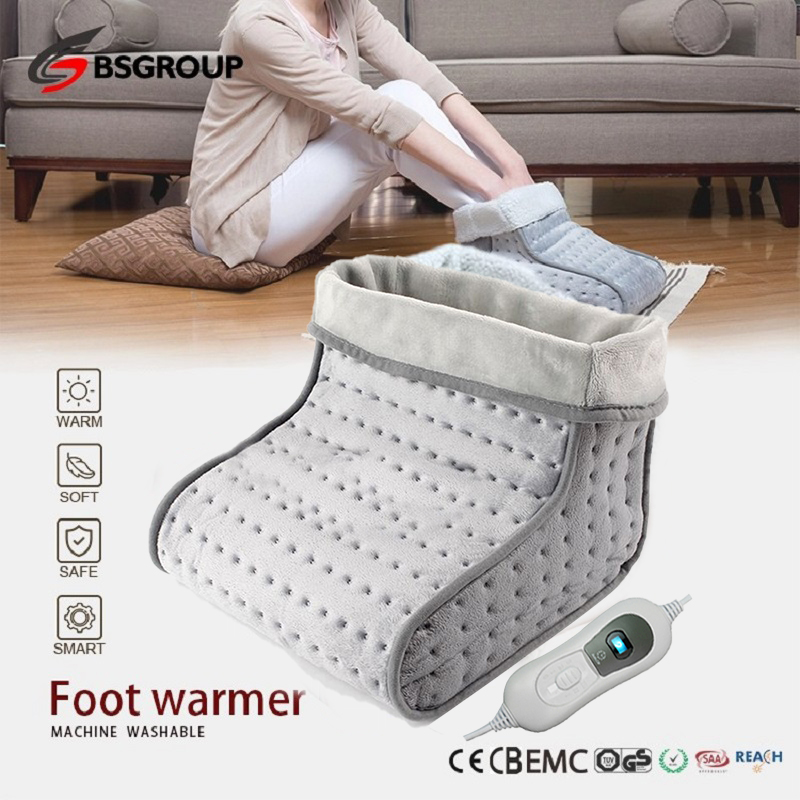 220 - 240V 100W Soft Microwave Electric Heating Pad Heated Foot Warmer Booties Slipper Shoe For Men And Women Bed Office EU Plug