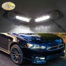 2 adet Mitsubishi Lancer 2010 için 2011 2012 sarı dönüş sinyali röle su geçirmez 12V araba DRL lambası LED gündüz farı çalışan ışık