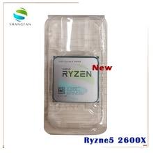 Processador amd ryzen 5 2600x r5 2600x, processador cpu 3.6 ghz com 6 e 12 núcleos soquete am4