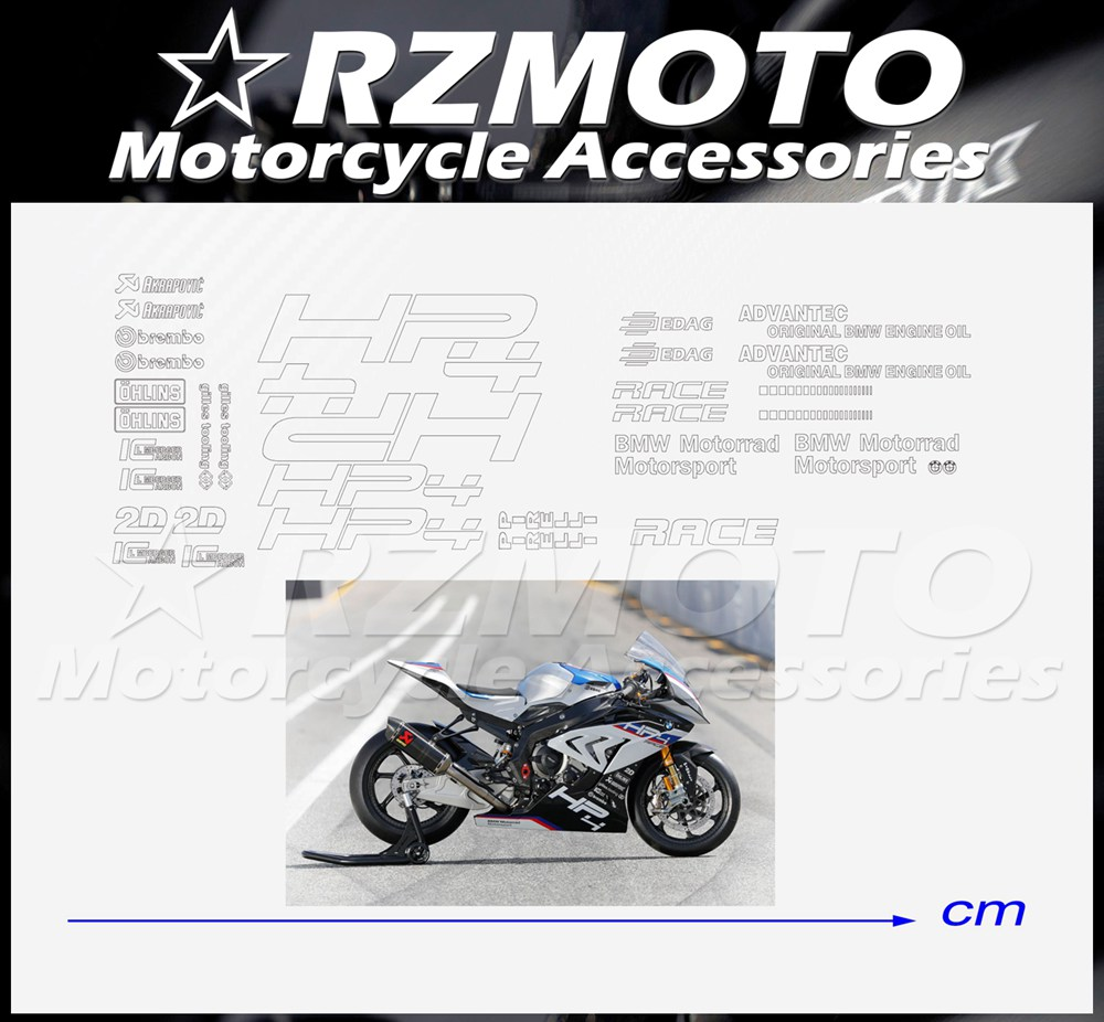 Black BMW S1000RR moto sticker for Fairing tank decal motorcycle