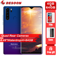 """Global Version Blackview A80 Pro 6.49"""" Waterdrop Quad Rear Camera 4GB 64GB Mobile Phone 4680mAh Octa Core Android 9.0 Smartphone"""