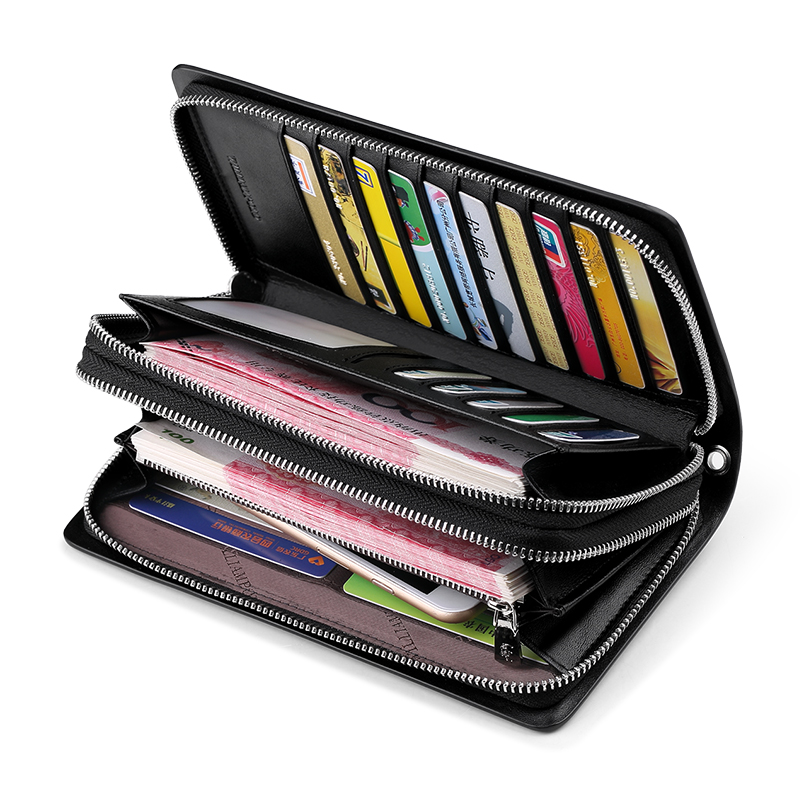 WILLIAMPOLO Men Wallet Genuine Leather Purse Fashion Casual Lonog Business Male Clutch Wallets Men's Handbags PL239 - 6
